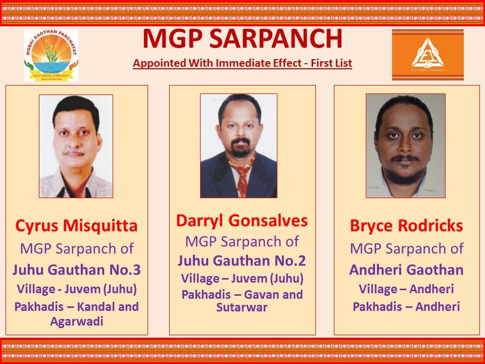 MGP SARPANCH – Mobai Gaothan Panchayat